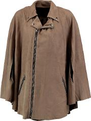 Woman Harley Suede Cape Taupe