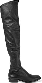 Woman Solomann Leather Over The Knee Boots Black Size 6