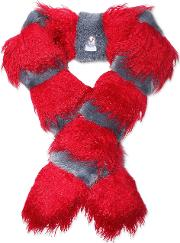 Woman Marnie Faux Fur Scarf Red