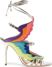 Fire Bird Metallic Leather Sandals