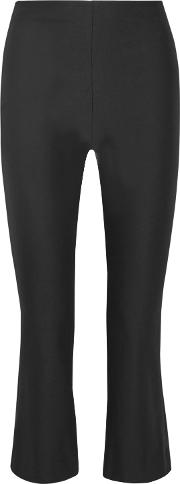 Stretch Cotton Flared Pants