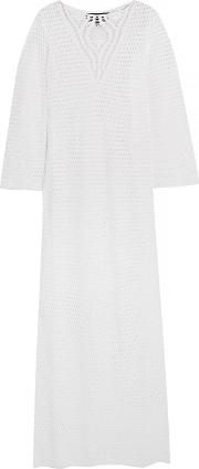 Woman Dombasle Crocheted Cotton Dress White