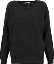 . Woman Cashmere Sweater Charcoal Size S