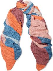 Woman Ananda Printed Knitted Scarf Orange