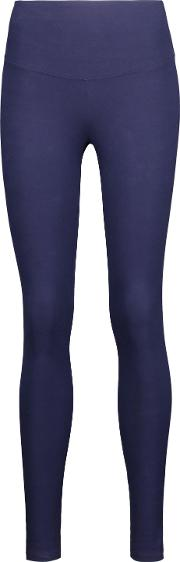 &reg Woman Milan Stretch Cotton Blend Leggings Midnight Blue Size Xs