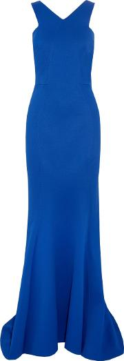 Woman Bonded Jersey Gown Royal Blue