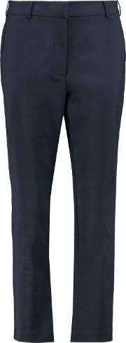 Woman Adorn Crepe Tapered Pants Navy