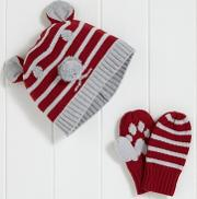 Boys Bear Hat And Mitts Set 1 6yrs