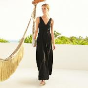 Cross Front V Neck Maxi Dress