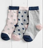 Girls' Socks 1 6 Yrs Pack Of 3