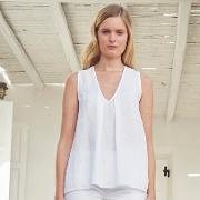 Linen Sleeveless V Neck Top