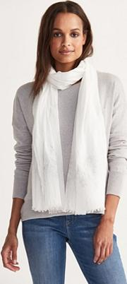 Metallic Embroidered Scarf