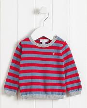 Star Embroidered Striped Jumper
