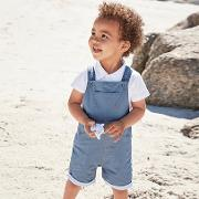 Twill Dungarees And Whale Toy