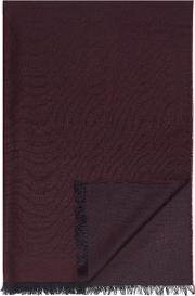 Burgundy Wool Rich Scarf