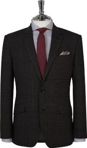 Euston Charcoal Check Slim Fit Infinity Suit Jacket