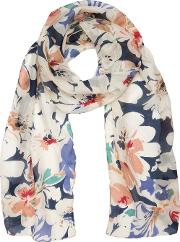 Floral Splash Silk Scarf
