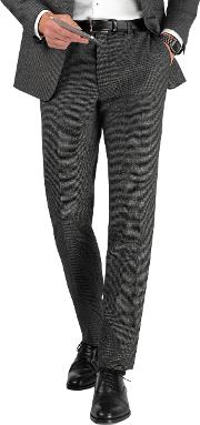 Laver Charcoal Puppytooth Slim Fit Infinity Machine Washable Trousers