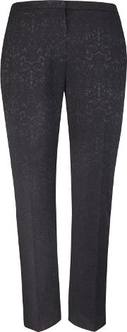Milla Black Jacquard Trousers