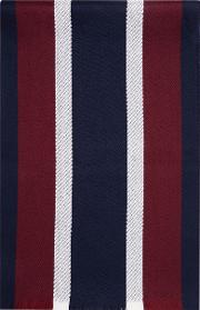 Navy Burgundy Stripe Scarf