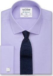 Non Iron Lilac Fine Twill Fitted Shirt