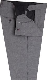 Pimlico Skinny Fit Ultimate Stretch Suit Trousers In Grey Wool Blend