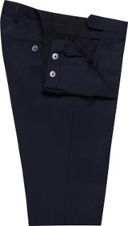 Pine Navy Textured Weave Skinny Fit Suit Trousers