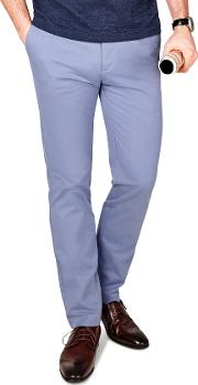 Radcliffe Mid Blue Italian Cotton Stretch Chino
