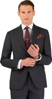 Titian Slim Fit Jacket In Charcoal Zegna Wool