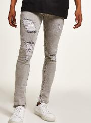 Washed  Spray On Skinny Jeans