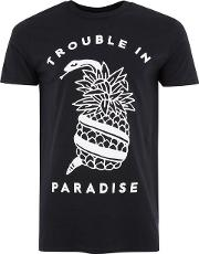 Black Snake And Pineapple T Shirt