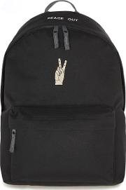 Mens Art Disco Black Turbo Backpack