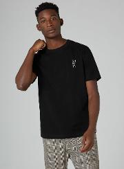 's  'v' Embroidered T Shirt
