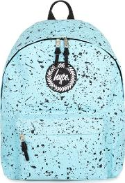 Blue 's Black Paint Speckle Print Backpack
