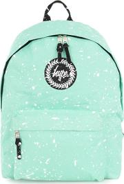 Green  Paint Speckle Backpack