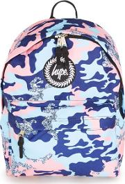 Mens Multi  Pastel Camouflage Backpack