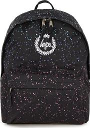 Mens  Multicoloured Marble Print Backpack