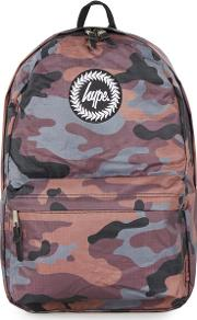 Multi  Reversible Camouflage And Plain Backpack