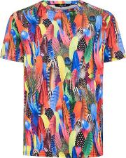 Feather Print T Shirt