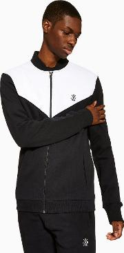 Panelled Zip Up Track Jacket