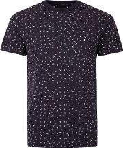Navy And White Arrow Woven T Shirt