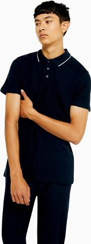 And White Tipped Organic Cotton Polo