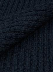 Mens Blue  Navy Waffle Textured Scarf