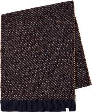 Mens Selected Homme Blue Twill Scarf