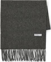 Mens Selected Homme Grey 'tope' Wool Scarf