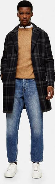 Recycled Wool Blend Double Breasted Coat