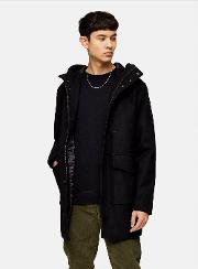 Recycled Wool Blend Parka