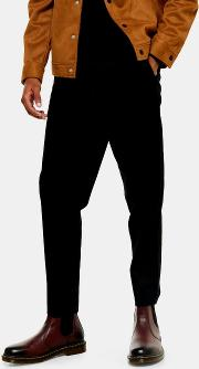Slim Tapered Cropped Trousers