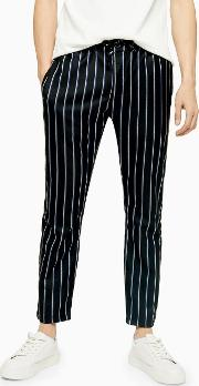 , White And Blue Stripe Trousers