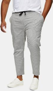Big & Tall  And White Stretch Skinny Trousers
